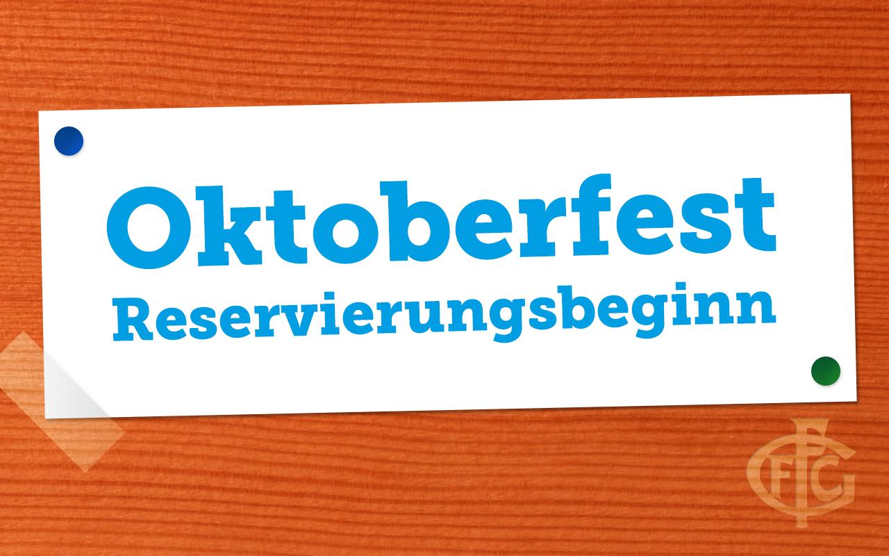 Reservierung Oktoberfest